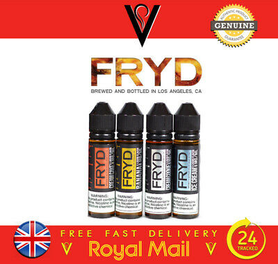 Fryd Deep Fried 4 Premium Eliquid Flavours 50Ml 0Mg Usa *Free Uk Shipping*