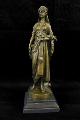 "Demeter Ceres Goddess of the Harvest Bronze Statue by E. Bouret 15"" x 5"""