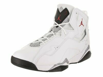 san francisco c39e8 33fe3 Jordan TRUE FLIGHT Mens White Gym Red-Black 342964-104 Basketball Shoes