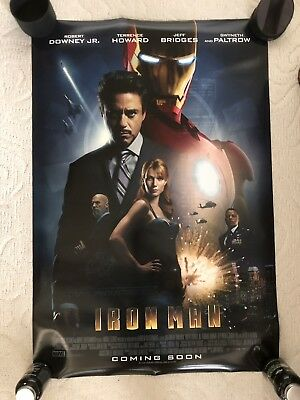 """Iron Man Final Two Sided 27""""x40' inches Original Movie Poster by Marvel"""