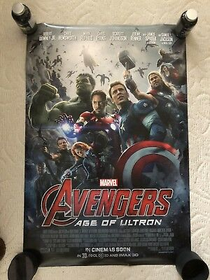 MARVEL AVENGERS AGE of ULTRON Original Movie Poster DS 27x40 2-sided