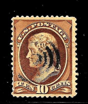 Hick Girl Stamp-Old Classic Used U.s. Sc#209  Jefferson, Issue 1881    X7567