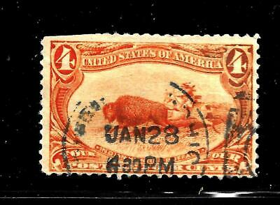 Hick Girl Stamp-Old Classic Used U.s. Sc#287  Indian Hunting Buffalo    X7569
