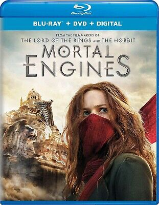 Mortal Engines (Blu-ray Disc/dvd/digital, 2019) Brand New Factory Sealed