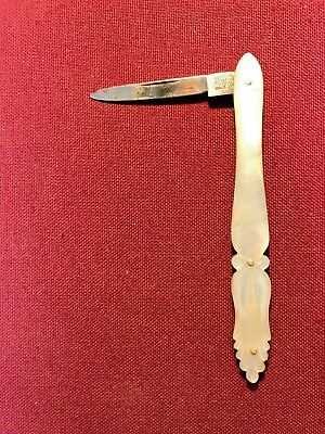Rare Joseph Rodgers&Sons Beautifully carved Mother of Pearl Penknife