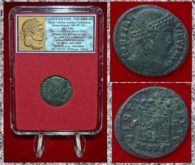 Ancient Roman Empire Coin Of CONSTANTINE THE GREAT Campgate VIRTVS AVGG