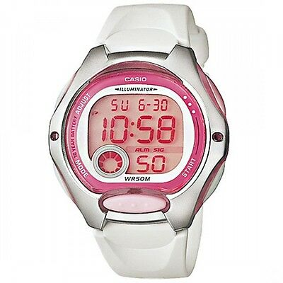 CASIO WOMEN DIGITAL LW-200-7A White Resin Brand New without Tag