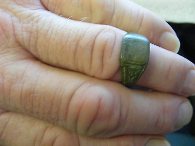 Ancient  bronze Ring,  22 x 19 mm inside... Medieval era probably.