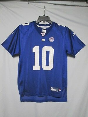 f37aede9e03 NFL New York Giants Eli Manning Super Bowl XLII Reebok Youth Jersey size XL