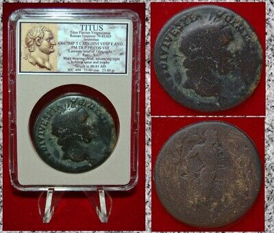 Ancient Roman Empire Coin Of TITUS Mars On Reverse Large Sestertius