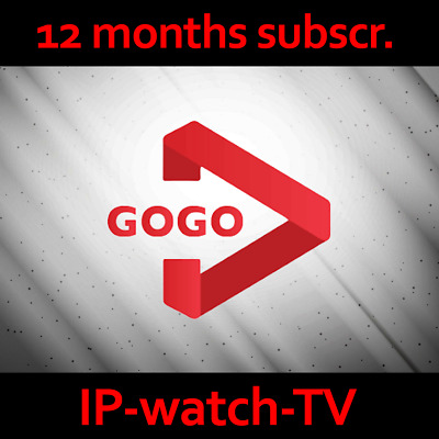 IPTV Gogo 12 months subscription Watch channels and VOD All devices compatible