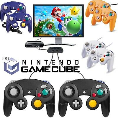 2 Pack Wired NGC Controller Gamepad Adapter for Nintendo GameCube GC/Wii Console