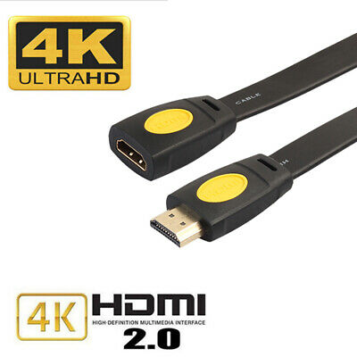 High Speed HDMI V2.0 Extender 4K 60Hz Extension Cable Adapter Male to Female NEW