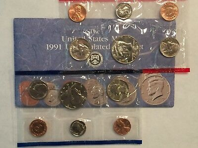 1991 Us Mint Uncirculated 10-Coin Mint Set