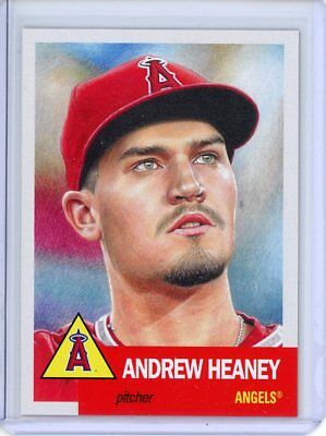 2018 Topps Living Set * ANDREW HEANEY * Card #111 * Los Angeles Angels Anaheim