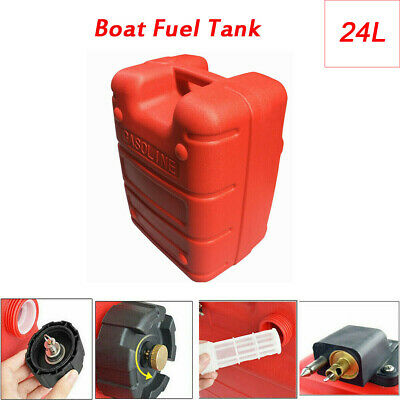 PORTABLE BOAT OIL Fuel Tank 24L For Yamaha Marine Outboard Fuel Tank  Connector