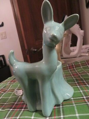 Vintage Shawnee Blue Deer Planter Pottery