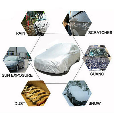 New Full Small Family Car Cover Waterproof UV Protection Dust Resistant KCH0S