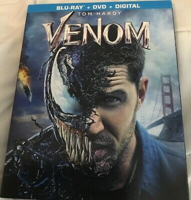 VENOM(BLU-RAY+DVD+DIGITAL)W/SLIPCOVER NEW FACTORY SEALED, Free Shipping