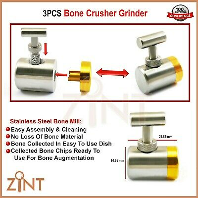 Bone Grinder Mill Crusher Grafting Titanium Dental Implant Surgical Instruments
