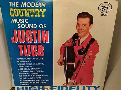 Justin Tubb; The Modern Country Music Sound Of, 1962 Starday SLP 198
