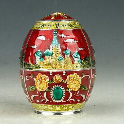 Chinese Cloisonne Handmade Carved FlowerToothpick Box GL2057