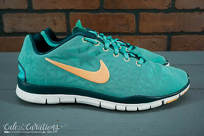 size 40 32d87 a4bc6 Nike Free TR Fit 3 Womens Size 8 Training Shoes Teal Gold