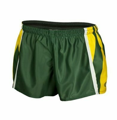 Australia Green & Gold Classic Hero Footy Shorts Size S-5XL! Rugby League Short