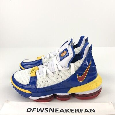 0ab63706d5556 Nike Lebron 16 Superbron Superman Men s 4.5 WMS 6 White Blue Red CD2451-100