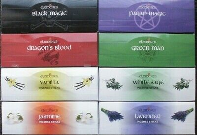 20-180 Sticks Elements Incense CHOOSE / MIXED Bulk Pack Lot HEX Floral Magic 200
