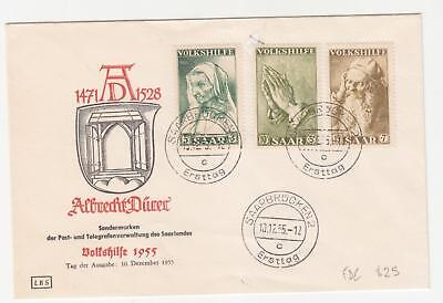SAAR, 1955 National Relief Fund set of 3 on unaddressed fdc.