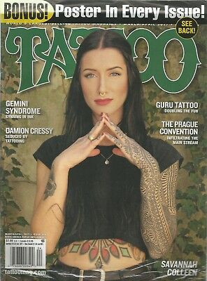TATTOO MAGAZINE MARCH April 2017 Savannah Colleen, Gemini Syndrone ...