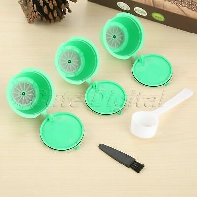 Reusable Nescafe Dolce Gusto Coffee Filter Capsules Pod Cup Green 10X i Cafilas