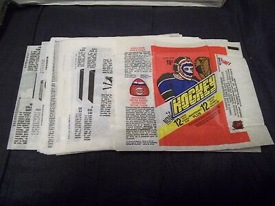 Topps and OPC O-Pee-Chee Hockey Wax Wrappers (you choose from list)