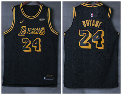 9f9c00e9811 Hot Kobe Bryant  24 Los Angeles Lakers Men s Black City Edition Jersey