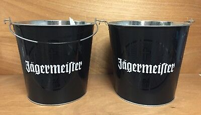 Jagermeister 5+ Quart Ice Bucket - Set of Two (2) New & Free Shipping - Jager