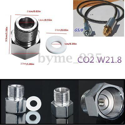 Chrome Sodastream Cylinder Adapter +Sealing Ring for Aquarium CO2 Carbon
