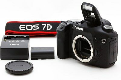 Canon EOS 7D 18.0MP Digital SLR Camera Body Only From JAPAN **EXC+++++** #923
