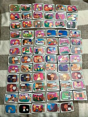 71 x The Simpsons Topps trading cards vintage 1990