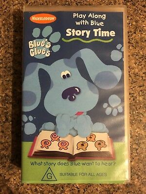 Blue's Clues: Story Time. VHS Video Tape Nickelodeon Play Along With Blue Steve