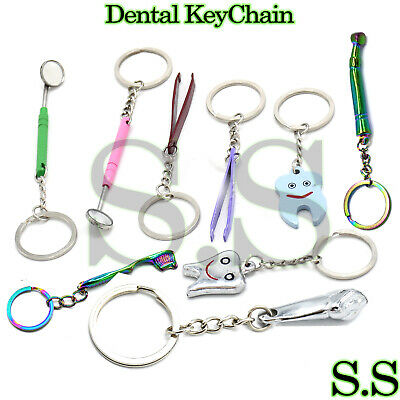 Assorted Dental Lab Molar Tweezers Key Chain/ Ring Dentist Gift Hand Piece
