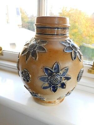 Circa 1869/72 -Very Early Doulton Lambeth Bulbous Shaped Vase ~ Awesome