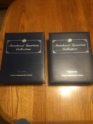 Postal Commemorative Society Statehood Quarters Coin Collection Set Volume 1 & 2