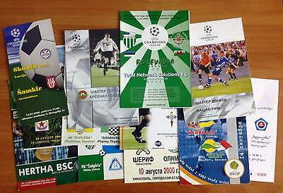 2000 / 2001 / 2002 / 2003 / 2004 Uefa Match Programmes Updated March 2019