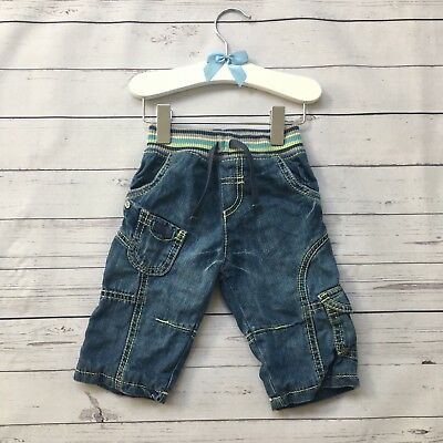 Baby Boys 3-6 Months - Jeans - Marks & Spencer Stretch Waist Fully Lined Cargo