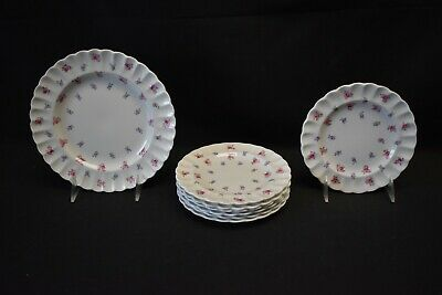 Spode England Bone China Dimity Y5764 Set of 7 Bread Plates & 1 Salad Plate