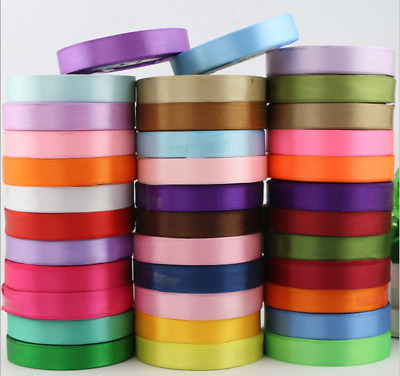 25 Yards Satin Multi-color Ribbon with Full Roll 10mm / 6mm-50mm Single Side