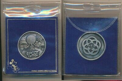 United States: 1982 Disney Sky Train, Epicot Center 40mm Medal, Official holder