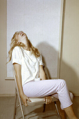 Hayley Mills laughing with her head backwards candid 24X36 Poster