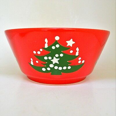 """Waechtersbach Red Christmas Tree Serving Bowl West Germany 7.5"""" No Chips"""